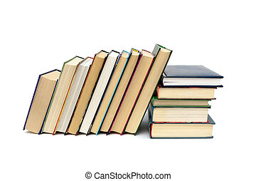Book isolated on white background horizontal photo