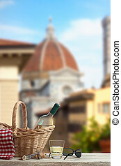 Picnic in Front of the Duomo in Florence