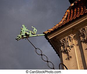 Bronze statue of dragon