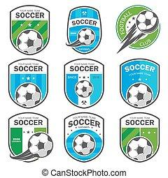 Set of football logos. - Vector illustration set of logos on...