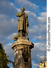Mickiewicz statue - Statue of Adam Mickiewicz in Warsaw in...