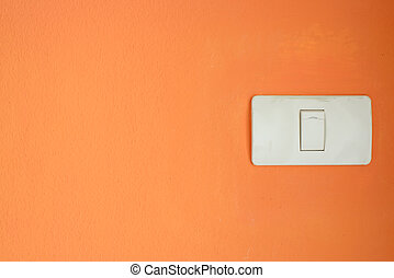 White light switch, turn on or turn off the lights on orange...