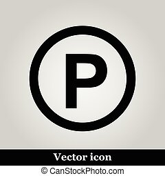 Parking icon, vector illustration