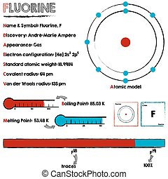 Fluorine element infographic - Large and detailed...