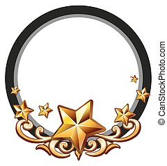 Logo design with golden stars