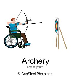 rio 2016, brazilian archery game for handicapped, disability...