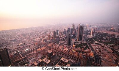 View of Dubai from the sky