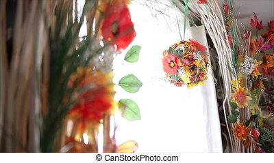 Beautiful Flowers in a Window