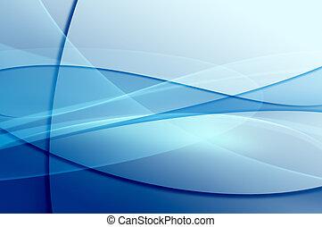 abstratos, azul, onda, véu, textura