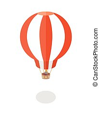 Balloon Vector Illustration in Flat Design.