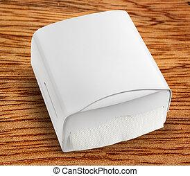 New white towel dispenser