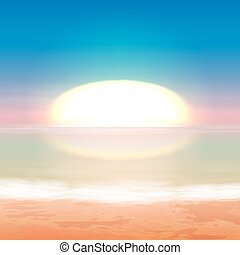 Beautiful sea sunset EPS10 vector