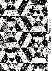 Black and White quilt pattern - Homemade quilt in black and...