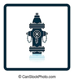 Fire hydrant icon Shadow reflection design Vector...