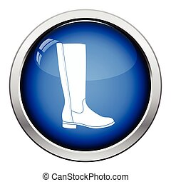 Autumn woman boot icon