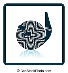 Fire hose icon. Shadow reflection design. Vector...