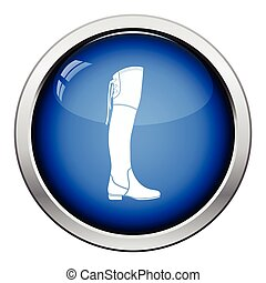 Hessian boots icon. Glossy button design. Vector...