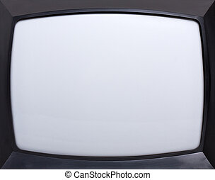 Retro television screen - Retro television equipment blank...