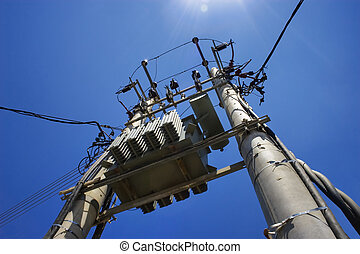 Local Power Station - Photograph of a typical local power...