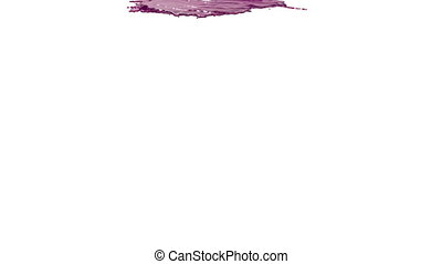 pink paint pouring on white background - close-up view of...