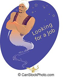 Genie looking for a job at crisis