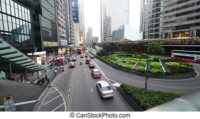 Hong Kong - JULY 29, 2014: Busy traffic on July 29 in Hong...