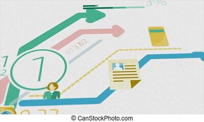 Business Background With Elements Of Infographics 4K -...
