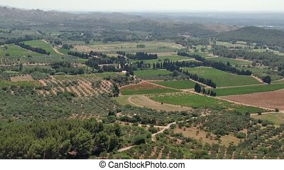 Countryside in Provence France - View of the countryside...
