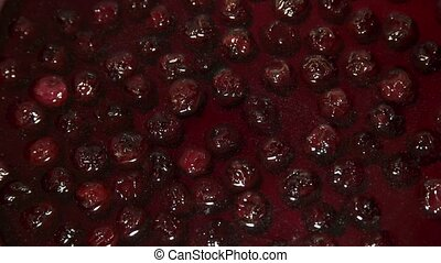 Sweet cherry pozzy - Close up shot of homemade cherry pozzy