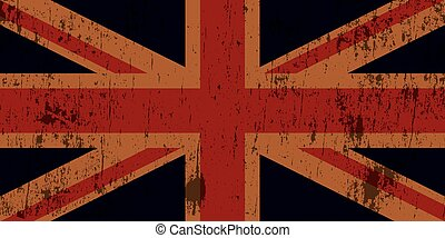 Grunge Textured Union Jack Flag - An illustration of a...