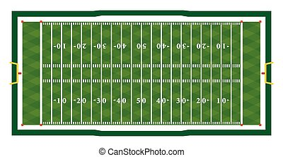 Realistic American Football Field Illustration - A realistic...