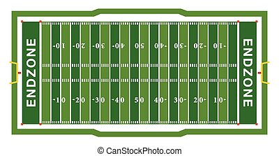 American Football Field Aerial View Illustration - A...