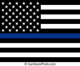 Law Enforcement Support Flag - An American flag law...