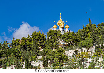 Russian Orthodox Church of St. Mary Magdalene - Golden domes...