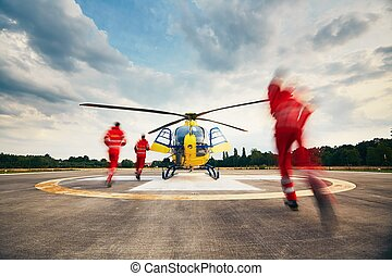 Air rescue service - Alarm for the air rescue service. Team...