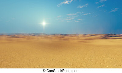 Sandy african desert daytime - Barren lands of sandy african...