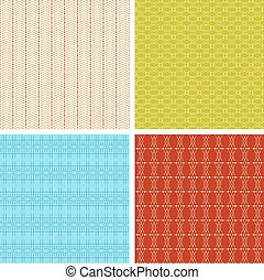 Set of 4 abstract geometrical ethnic seamless pattern.