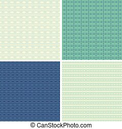 Set of 4 abstract ornamental seamless patterns.