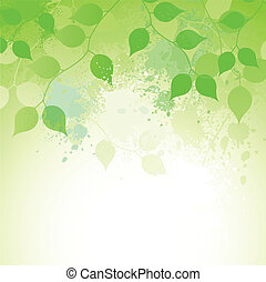 Elegance In Nature - Soft natural branches vector background...