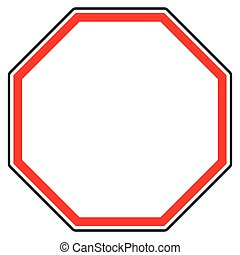 Generic red prohibition, restriction sign. Road sign with...