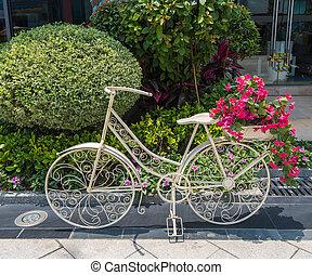 花, 自転車, 庭