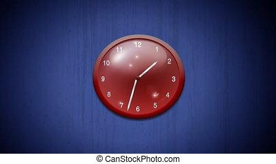 clock  - beautiful red clock