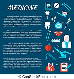 Dentistry medicine infromation banner template - Dentistry...
