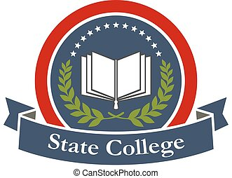 State college, university, high school icon - State college...