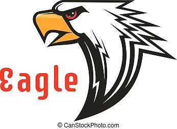 Eagle vector emblem. Hawk graphic symbol.