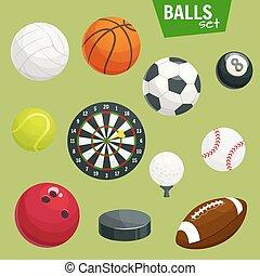 Sport balls set. Sports gaming accessories