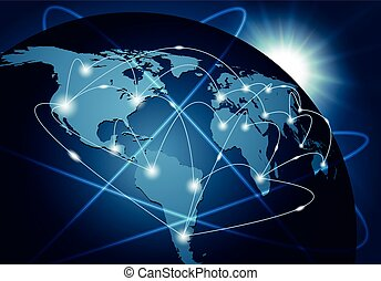 Global network connection background