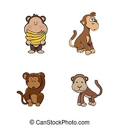 monkey illustration design collection