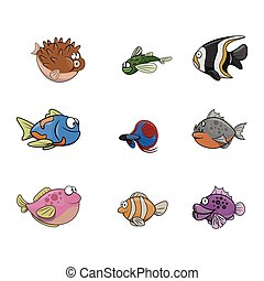 small fish illustration design collection