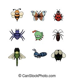 insect illustration design collection